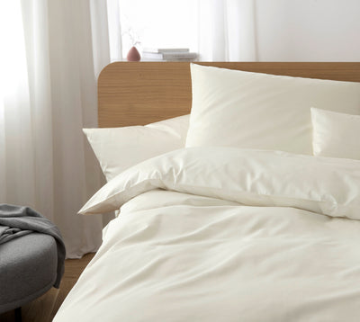 Milieu der Comfort Satin Bettwäsche Solid in Natur