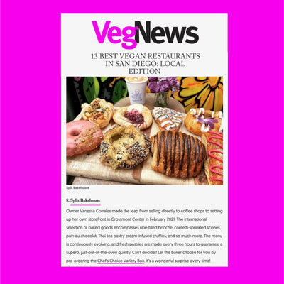 Featured on Veg News! 13 Best Vegan Restaurants