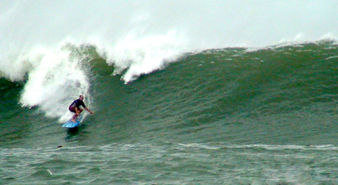 Jay surfing the pass