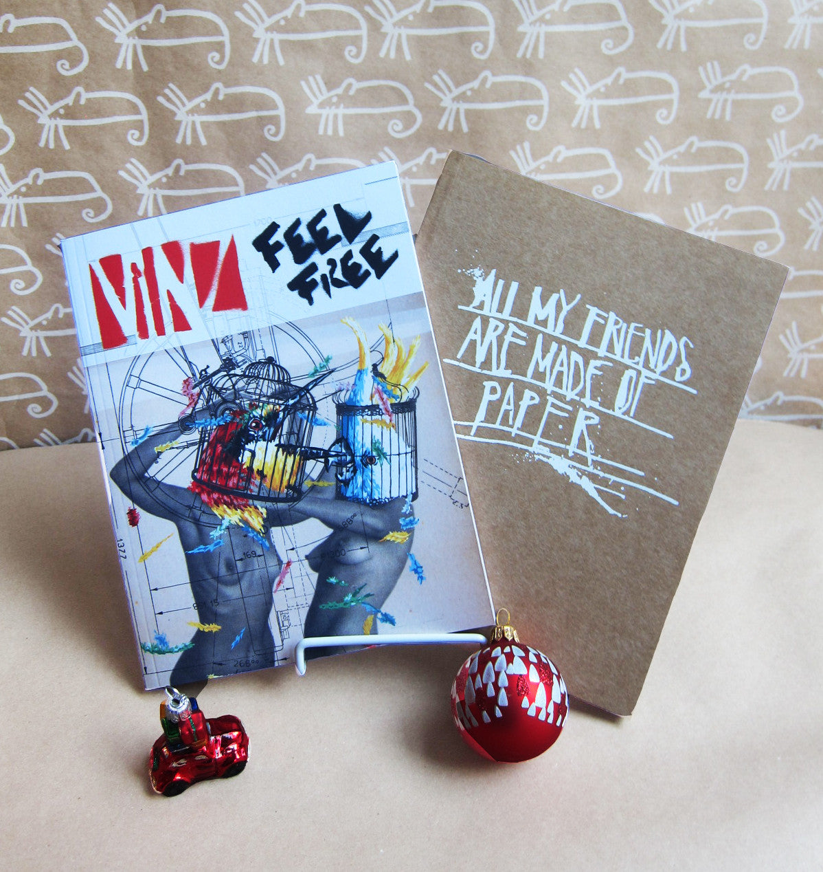 INTERNATIONAL: 2 Book Bundle: Vinz Feel Free & All My Friends Are Made Of Paper -- 60% off