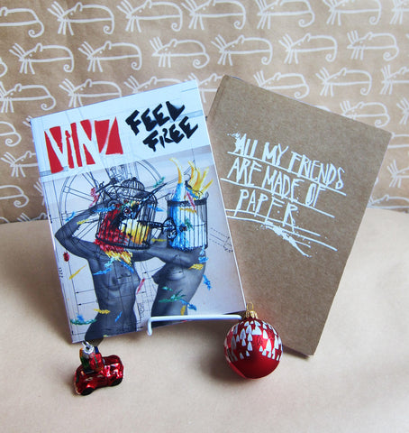 2 Book Bundle: Vinz Feel Free & All My Friends Are Made Of Paper -- 60% off
