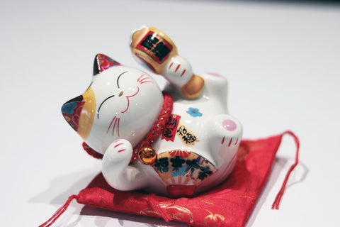 Lucky Cat Drum Coin Bank