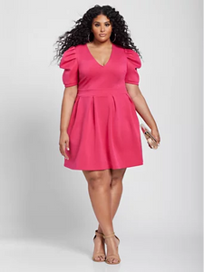 Plus Size Pink Amaya VNeck Dress