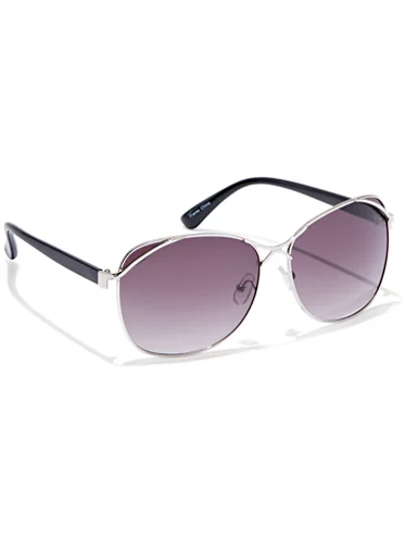 Metal Silver Accent Sunglasses