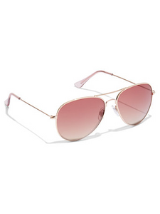 Pink Color Lens Aviator  Sunglasses