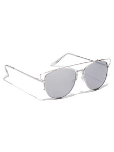 Brow-Bar Silver Aviators