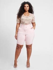 Plus Size City Pink Shorts