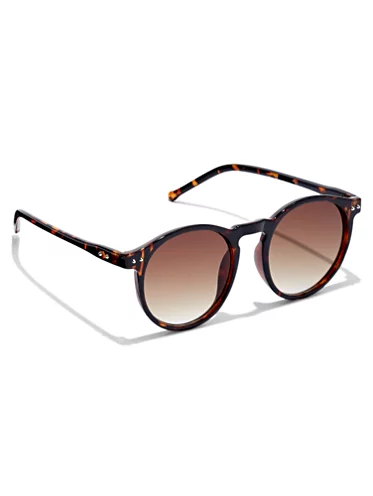 Tortoise Flat Brown Lens Sunglasses