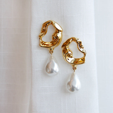 Entier Pearl Drop Earrings