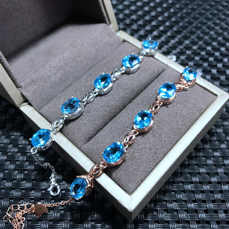 Natural Topaz Tennis Bracelet