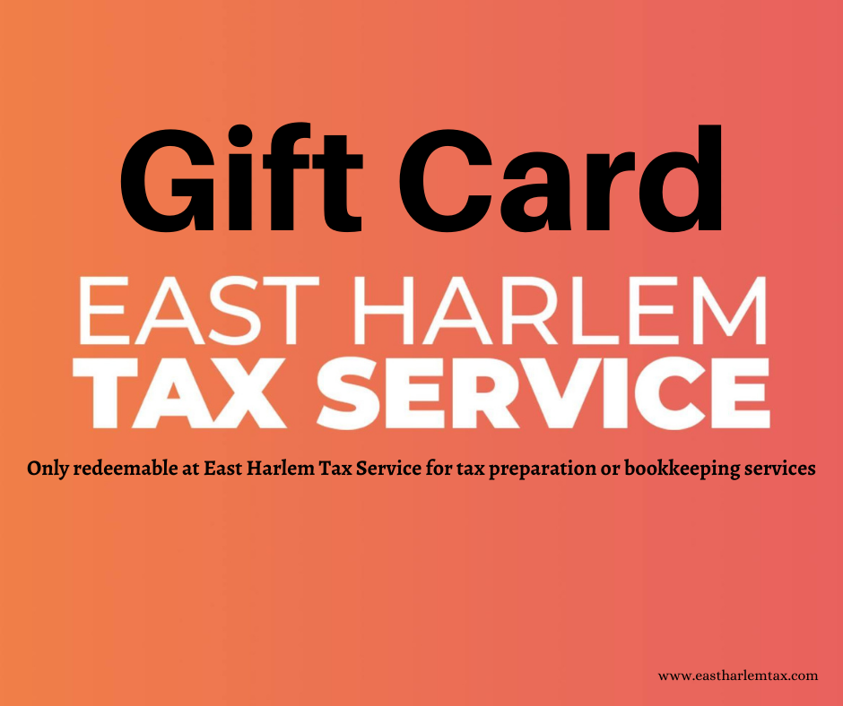 East Harlem Tax Gift Cards Now Available