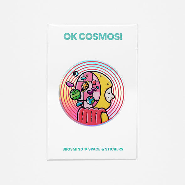 OK COSMOS! Alex the Astronaut Sticker
