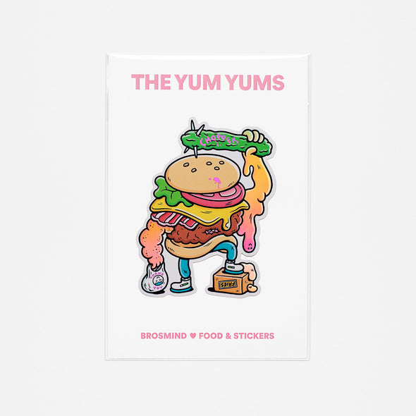 THE YUM YUMS Chopper the Burger Sticker