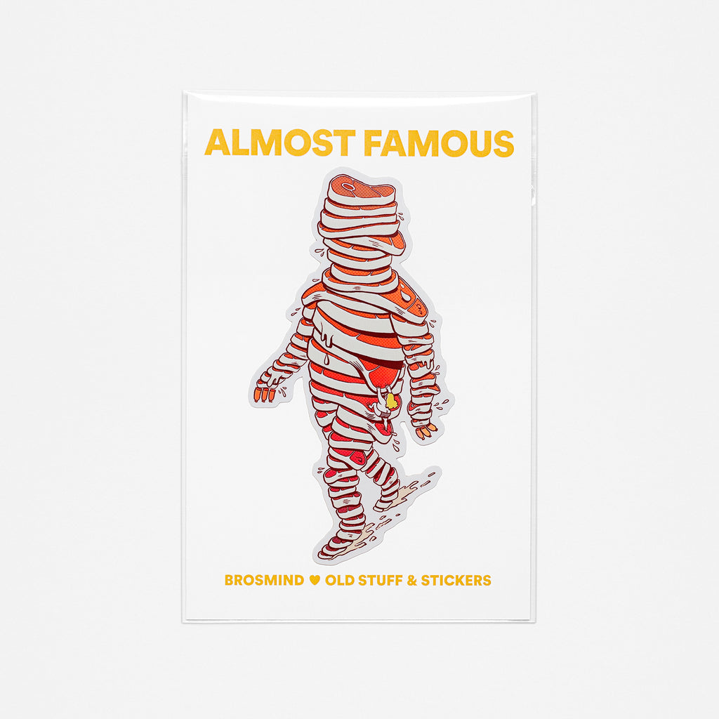 ALMOST FAMOUS Meat Man Sticker