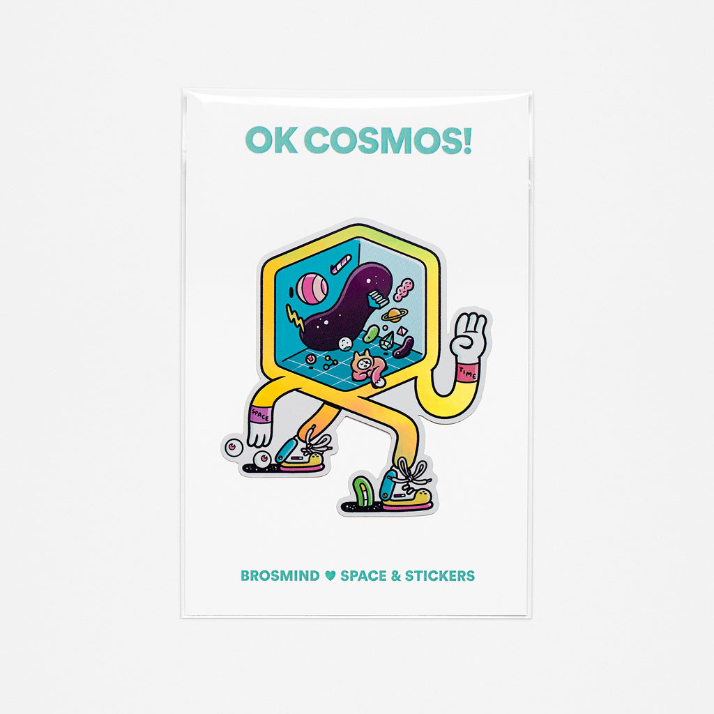 OK COSMOS! Space/Time Sticker