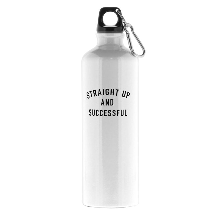 Aluminum Water Bottle - Straight Up and Successful Print