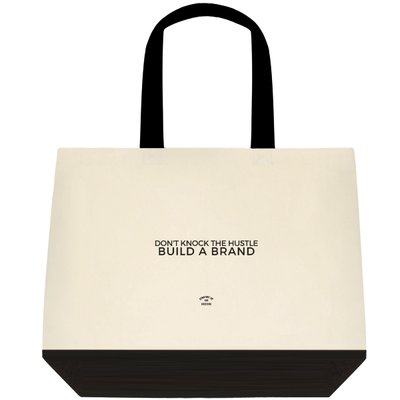Tote Bag - (Two-Tone Deluxe Classic) Don't Knock The Hustle Build A Brand