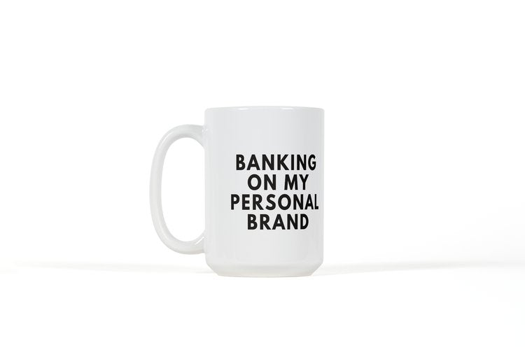 Wraparound Mug - (White) Banking On My Personal Brand