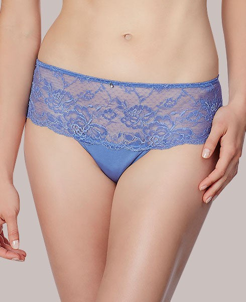 Montelle Cheeky Thong  in Blue Iris