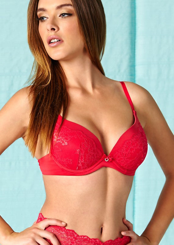 Montelle 9220 Plunge Push Up Sunset Red