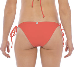 BIKINI BOTTOM TIE SIDE IN CORAL