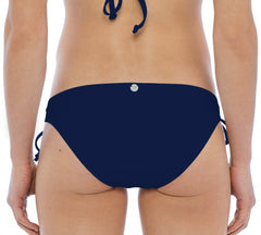 BIKINI BOTTOM MID RISE / OPEN TUNNEL TIE SIDE NAVY