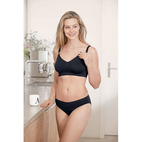 Anita Seamless Nursing Bra in Black