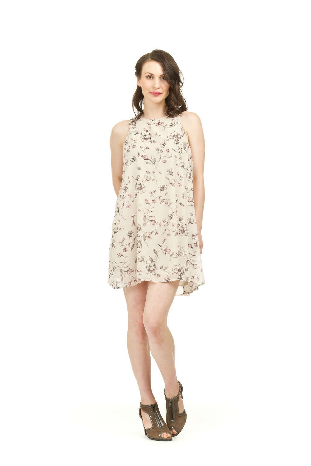 Papillon PD03730 Floral Print Swing Dress