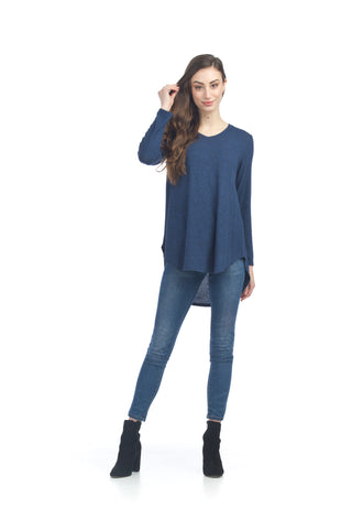 Papillon ST04371 Navy High Low V-Neck Tunic