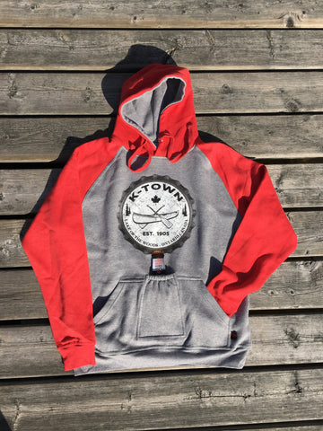 K-Town Men's Beer Hoodie in Red