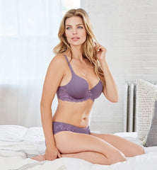 MONTELLE 9320 PURE PLUS FULL COVERAGE T-SHIRT BRA IN AMETHYST
