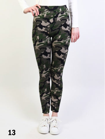 Fleece Lined Camo Print Leggings