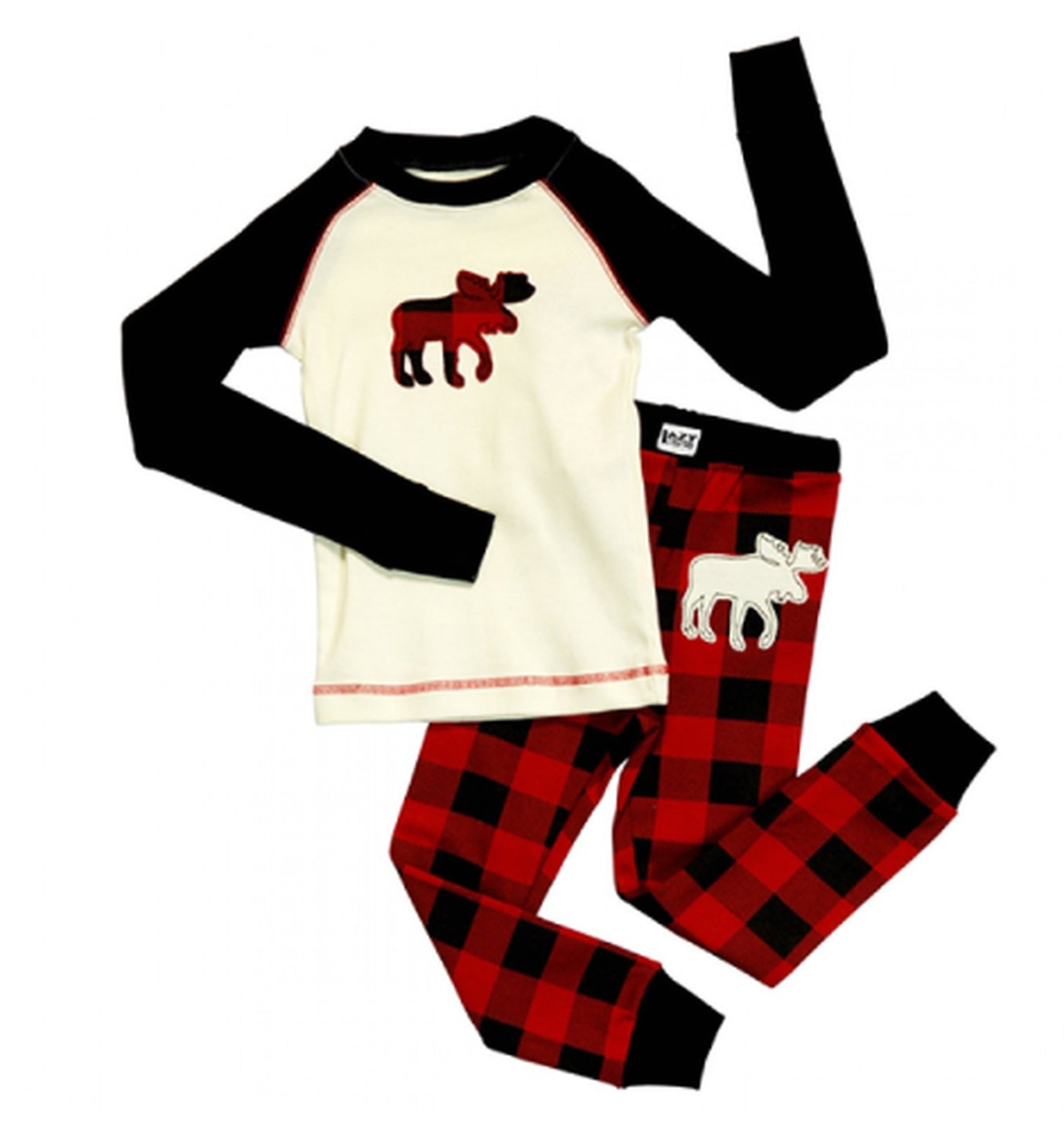 KIDS MOOSE PLAID PJ SET