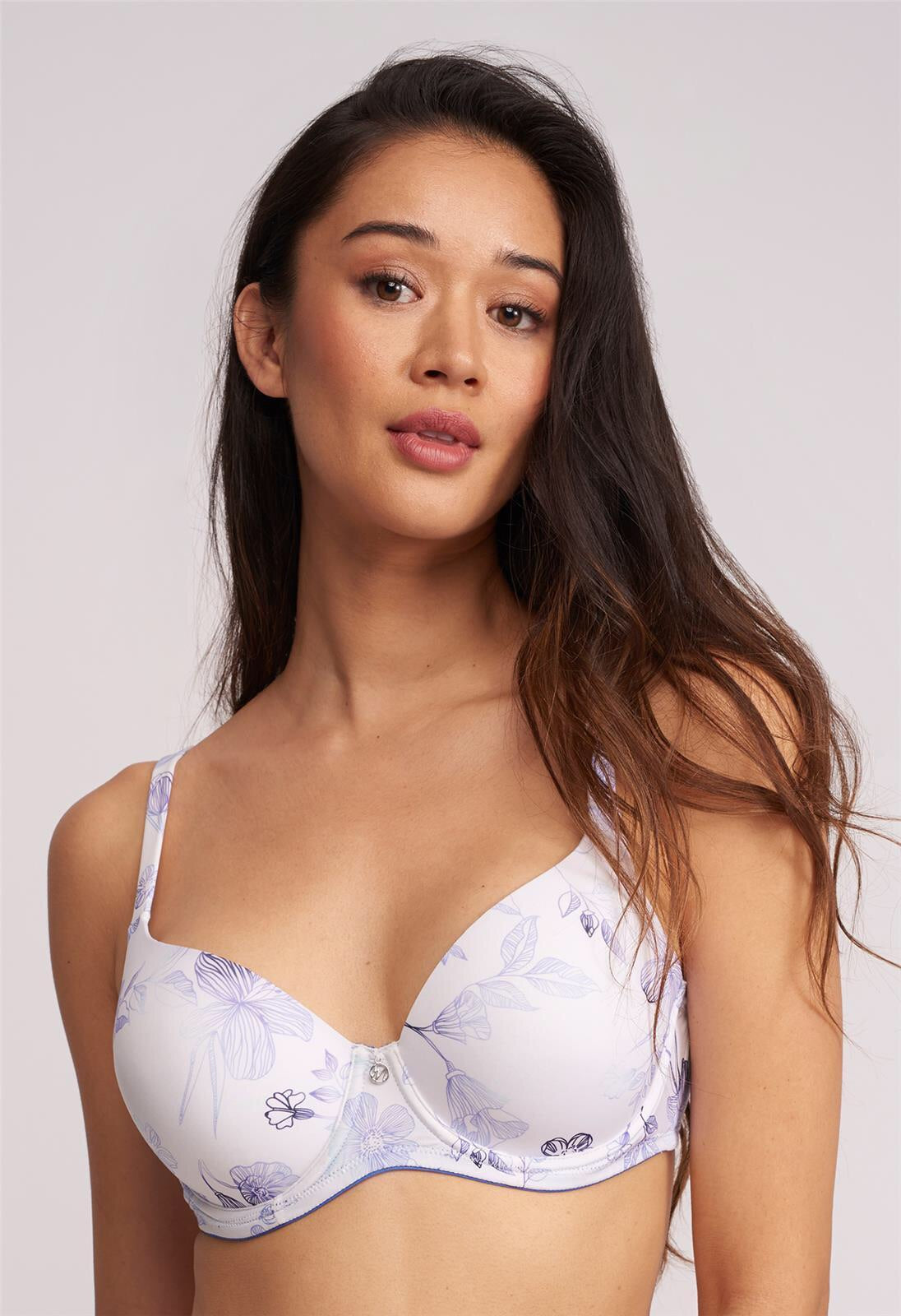 MONTELLE 9320 PURE PLUS FULL COVERAGE T-SHIRT BRA IN SANTORINI GARDEN