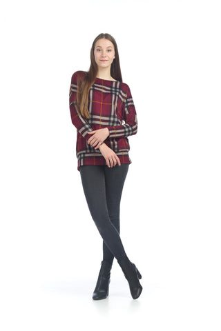 Papillon ST06310 Plaid Banded Sweater