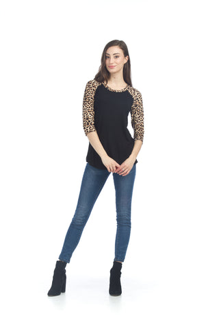 Papillon PT06014 Animal Print Baseball Tee