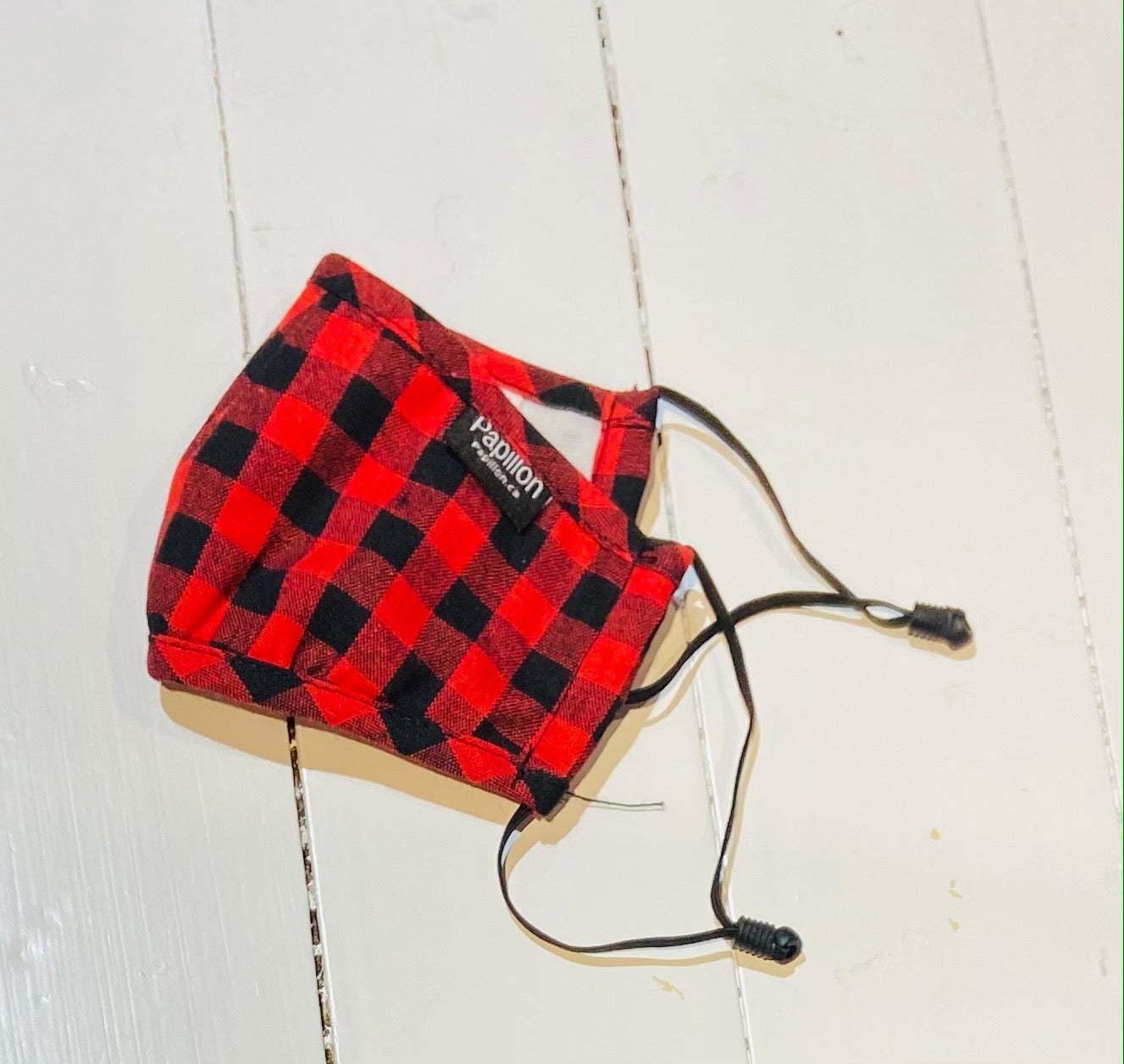 Youth Plaid Mask with Adjustable Ear Pieces