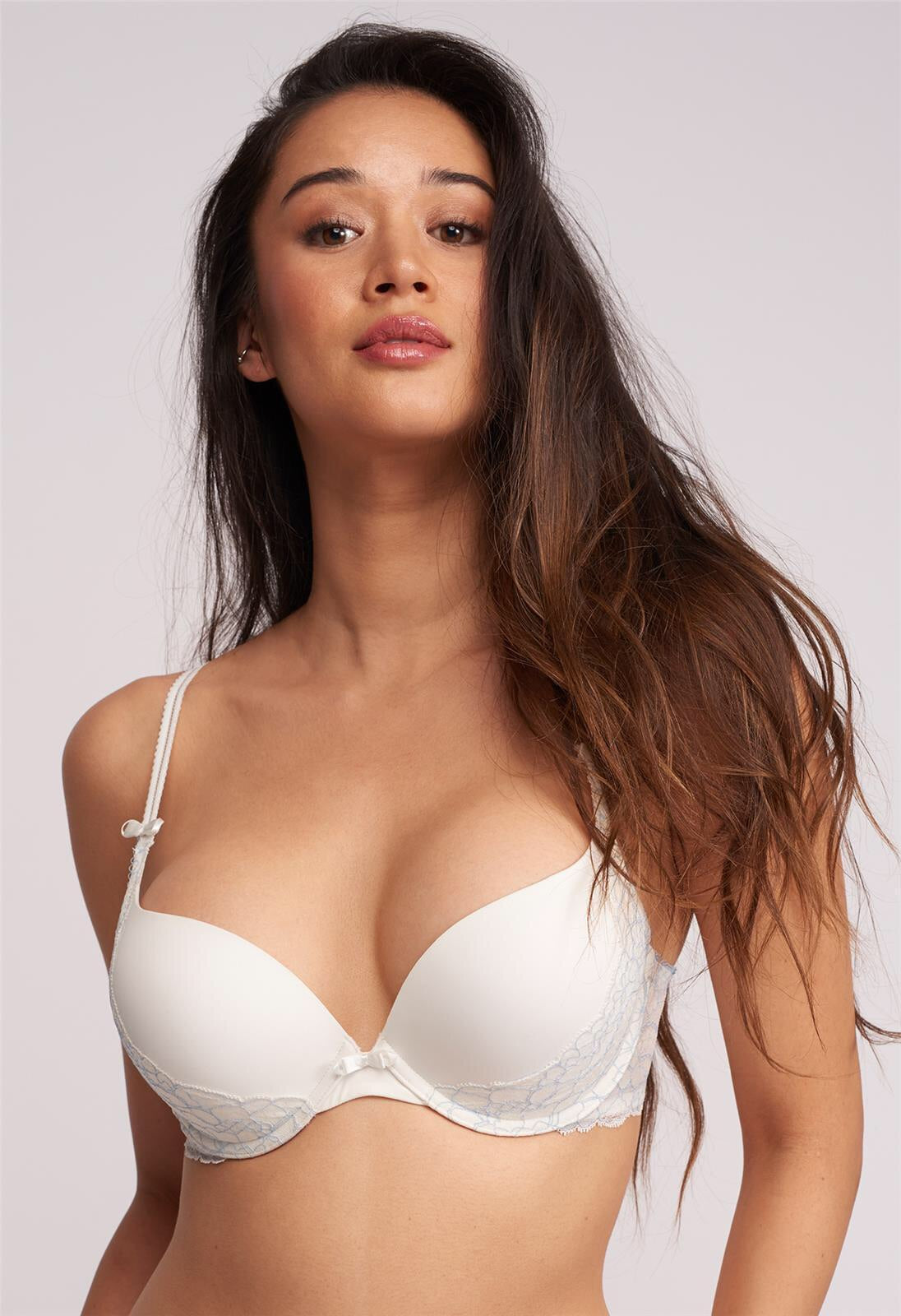 MONTELLE SWEET ENCOUNTER ALLURE PUSH UP BRA WITH LACE SLING