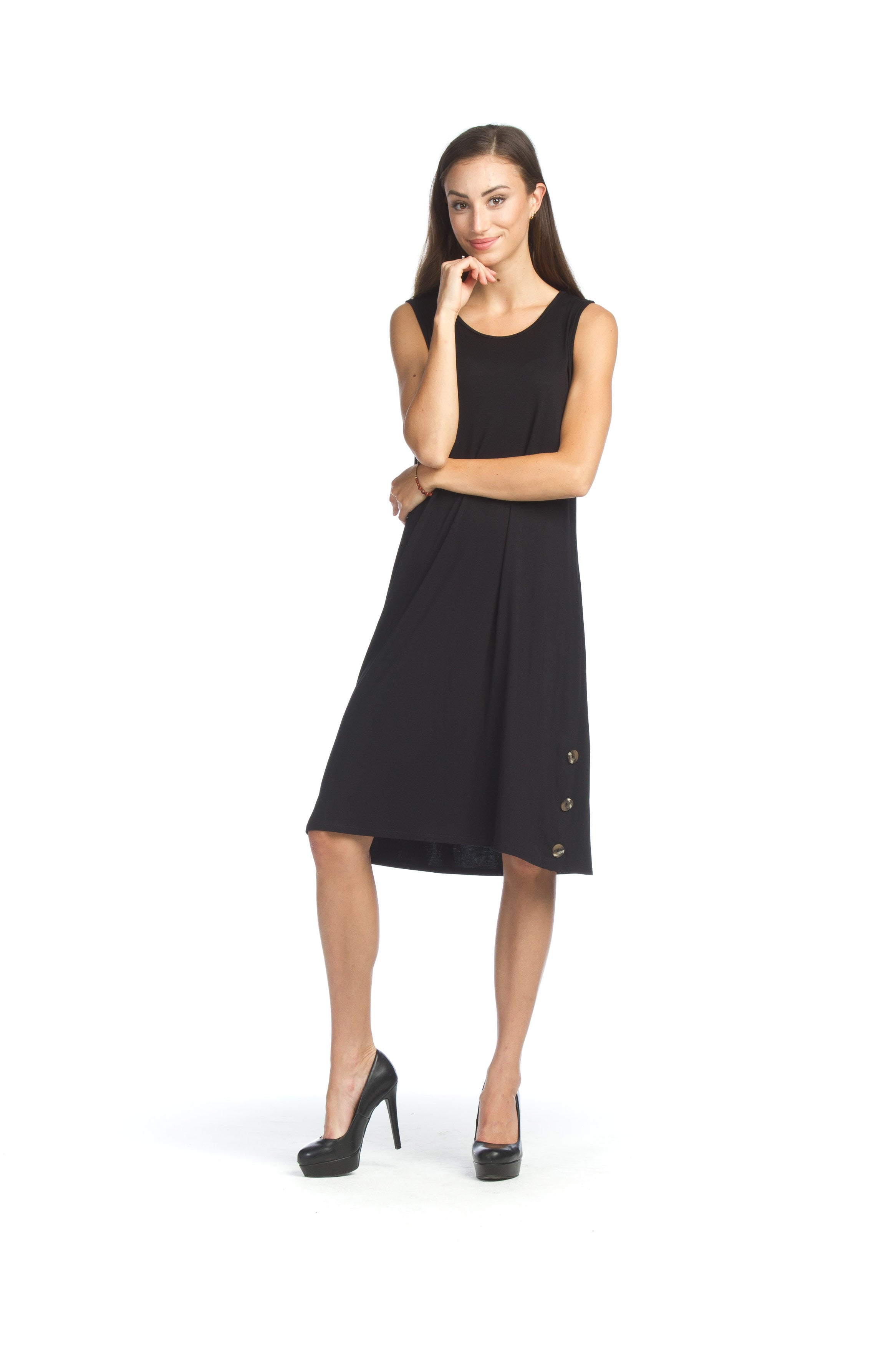 Papillon PD07630 Black Sleeveless Stretchy Dress