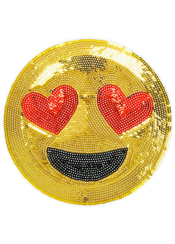 iDecoz Emoji Heart Eyes Large Sequin Sticker Patch