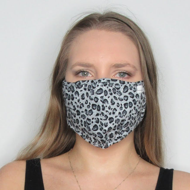 Adult Leopard Cotton Mask with Adjustable Ear Pieces