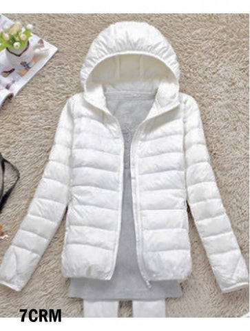 Women's Down Filled Jacket in Cream