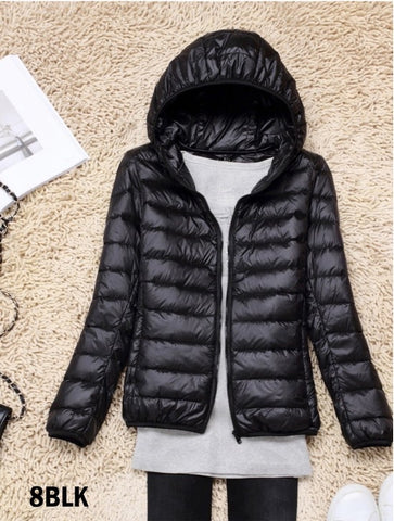 Women's Down Filled Jacket in Black