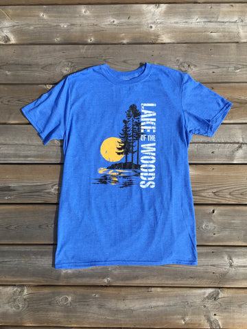 Lake of The Woods T-Shirt in Heather Blue