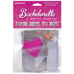 "PD6012-11 Bachelorette Party Favors ""From Miss to Mrs"" Party Banner"