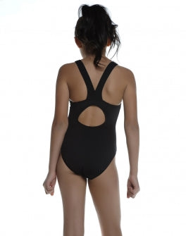 TYR Youth Black One Piece Vaporback Swimsuit