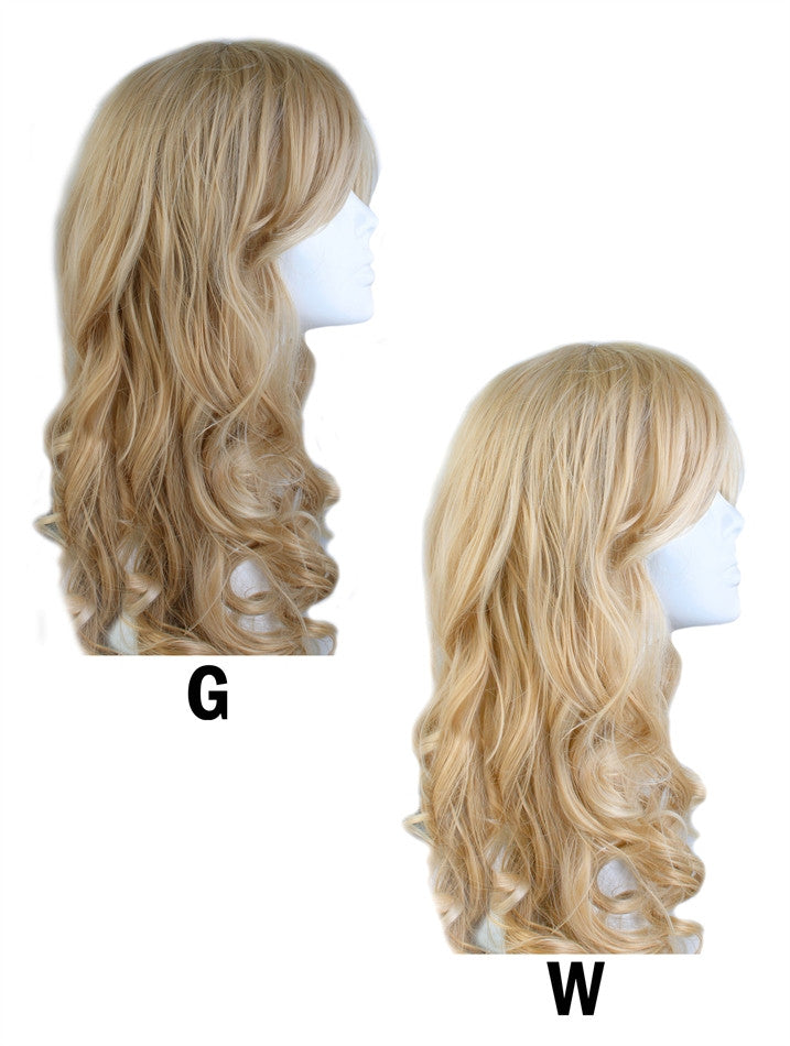 Wig Long Curly Blond