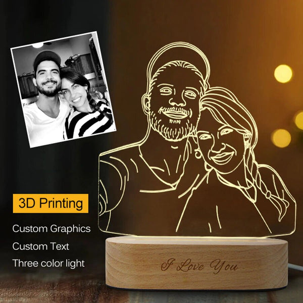 3D night light | Custom made photo lamp