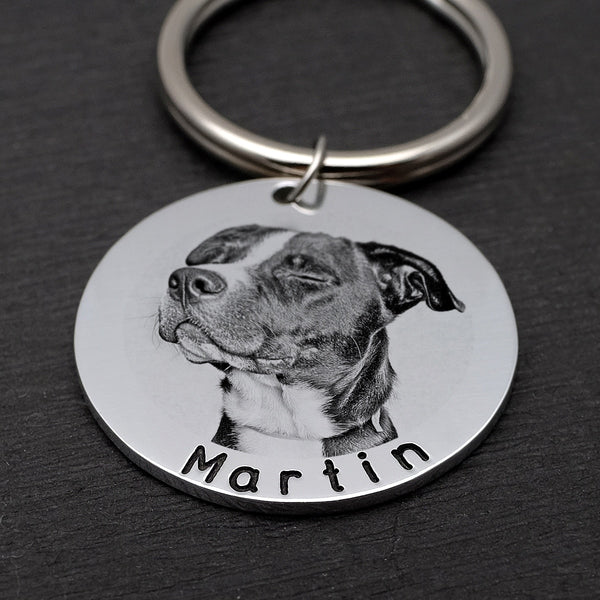Engraved Photo Pet Tag