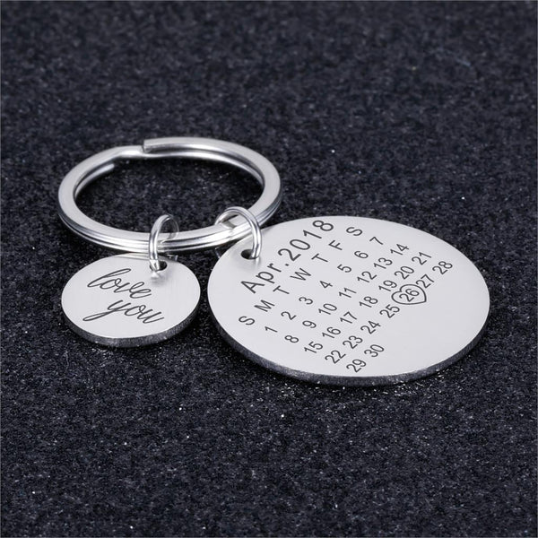 custom made couple keychain | Customized couple keychain | Personalized couple keychain with date